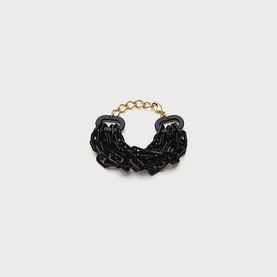 Jill Black Link Bracelet