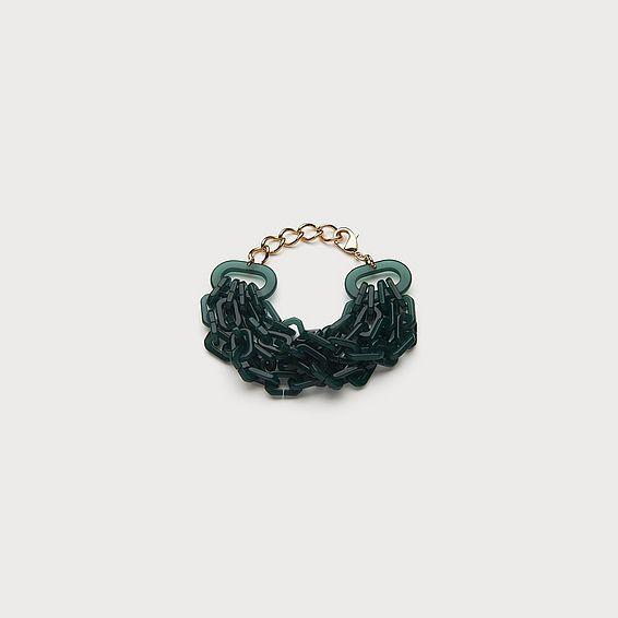 Jill Green Link Bracelet