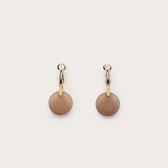 Judith Taupe Loop Earrings