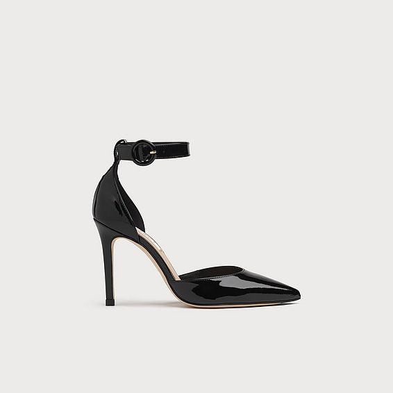 Priyanka Black Patent Heels