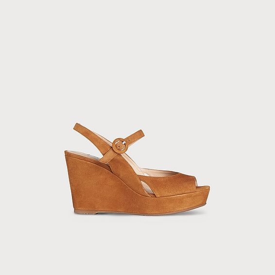 Raisa Brown Suede Wedge