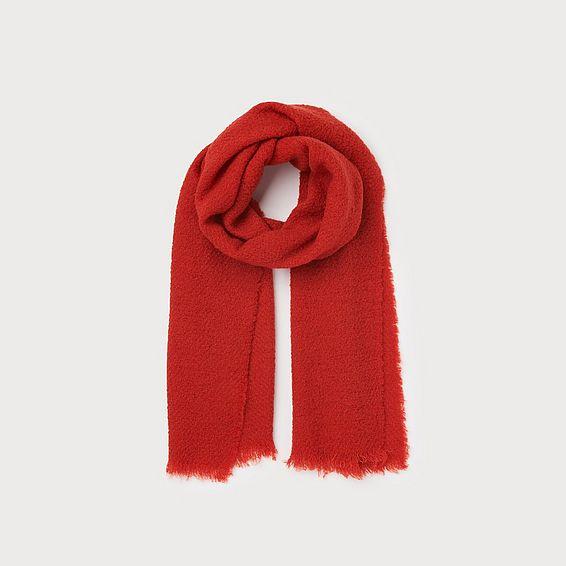 Alanna Red Wool Scarf
