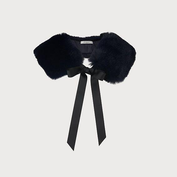 Ivonia Sloane Blue Faux Fur Scarf