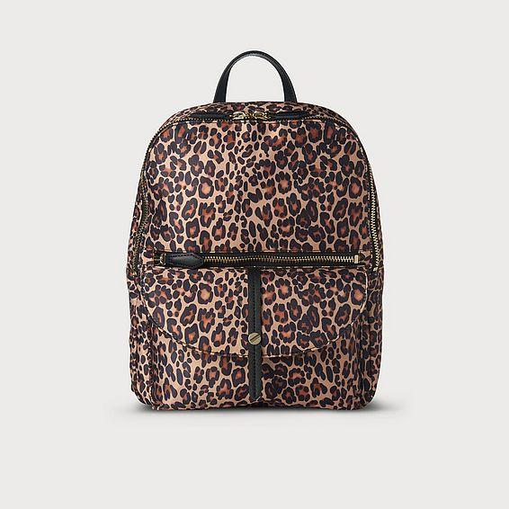 Bridget Leopard Backpack