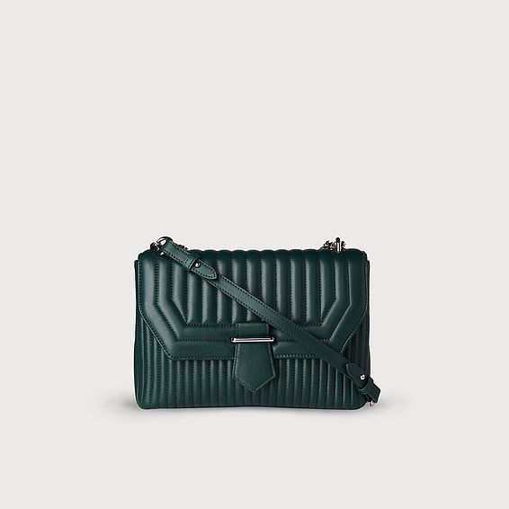 Maeve Green Leather Shoulder Bag