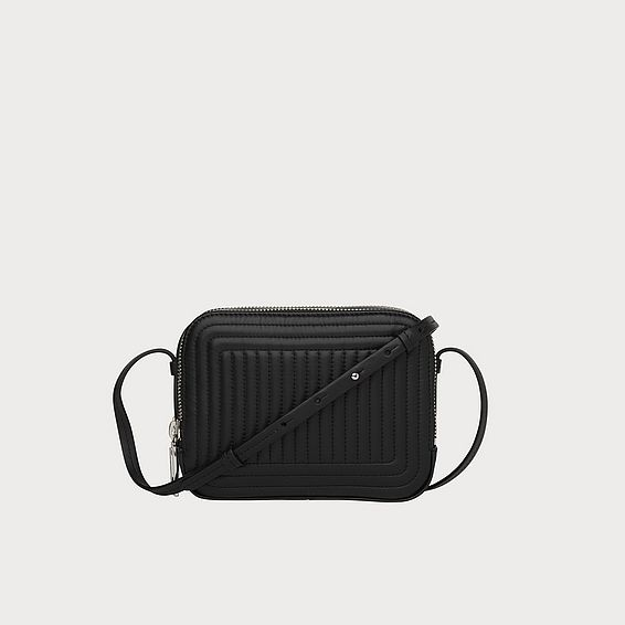 Mariel Black Leather Crossbody