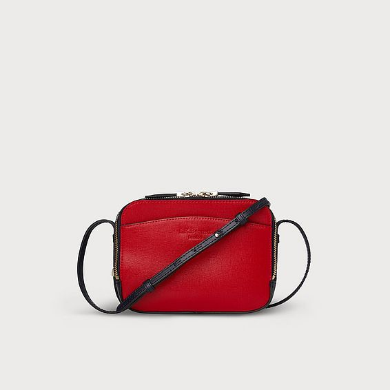 Mariel Red and Navy Shoulder Bag