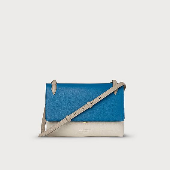 Patricia Blue and Ivory Shoulder Bag
