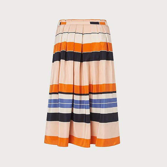 Caitlyn Orange Stripe Skirt
