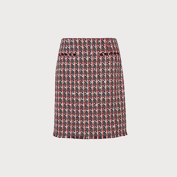 Danna Red Tweed Skirt