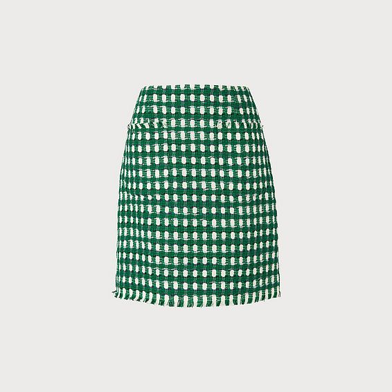 Tammy Green Tweed Skirt