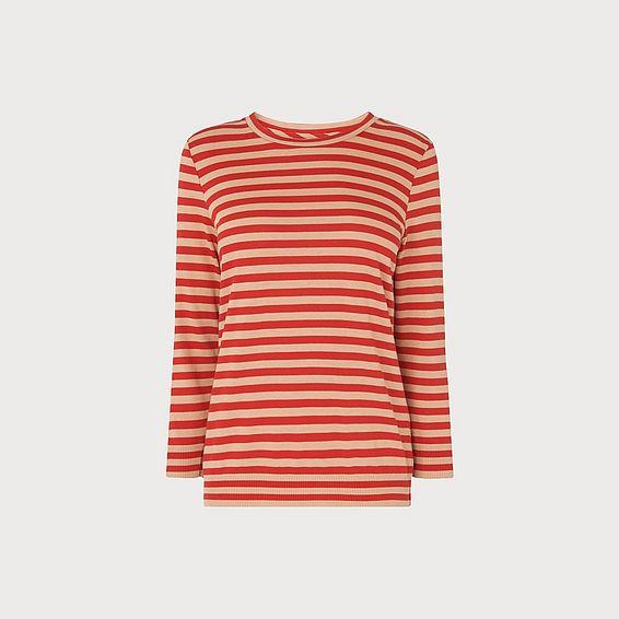 Estera Red Stripe Top