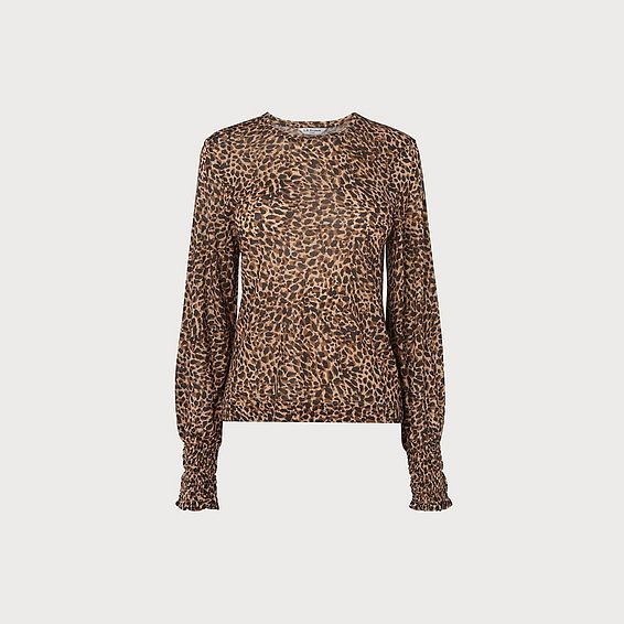 Vicky Leopard Wool Top