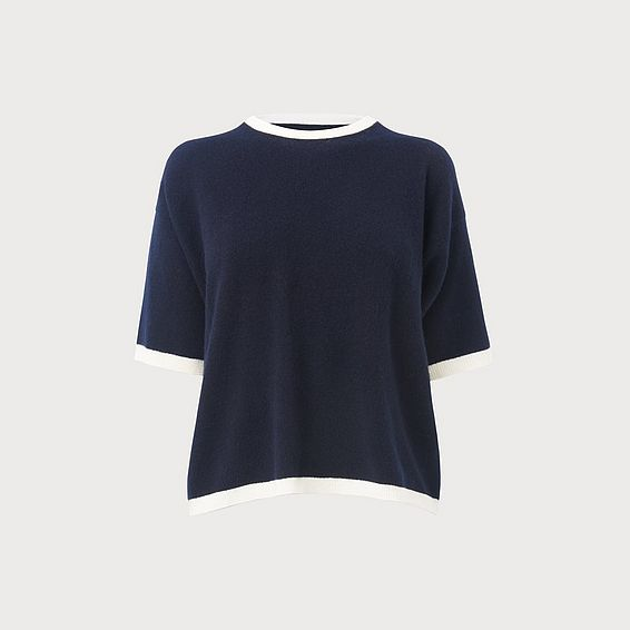 Tippie Navy Cashmere Top