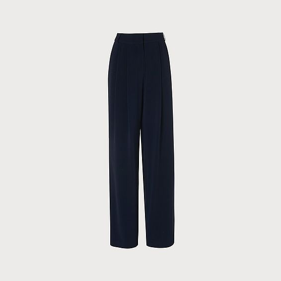 Reid Navy Wide Leg Pants