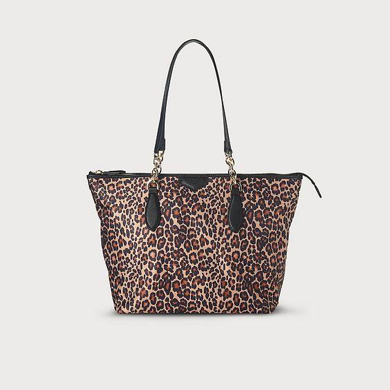 Brooke Leopard Nylon Tote