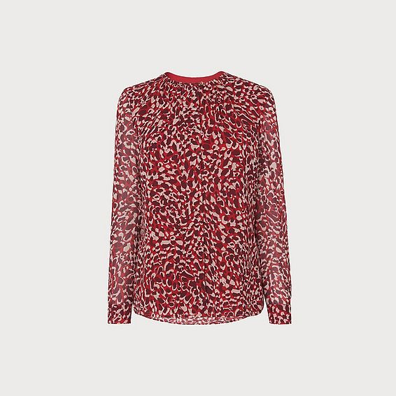 Damiell Animal Print Top