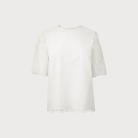 Milia White Lace Top