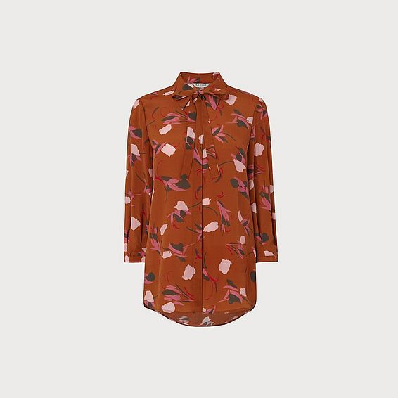 Yadis Rust Print Top