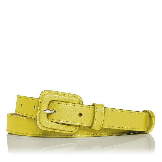 Genevra Leather Skinny Belt