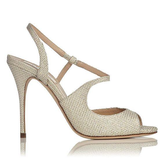 Palma Glitter Leather Knit Strappy Sandal