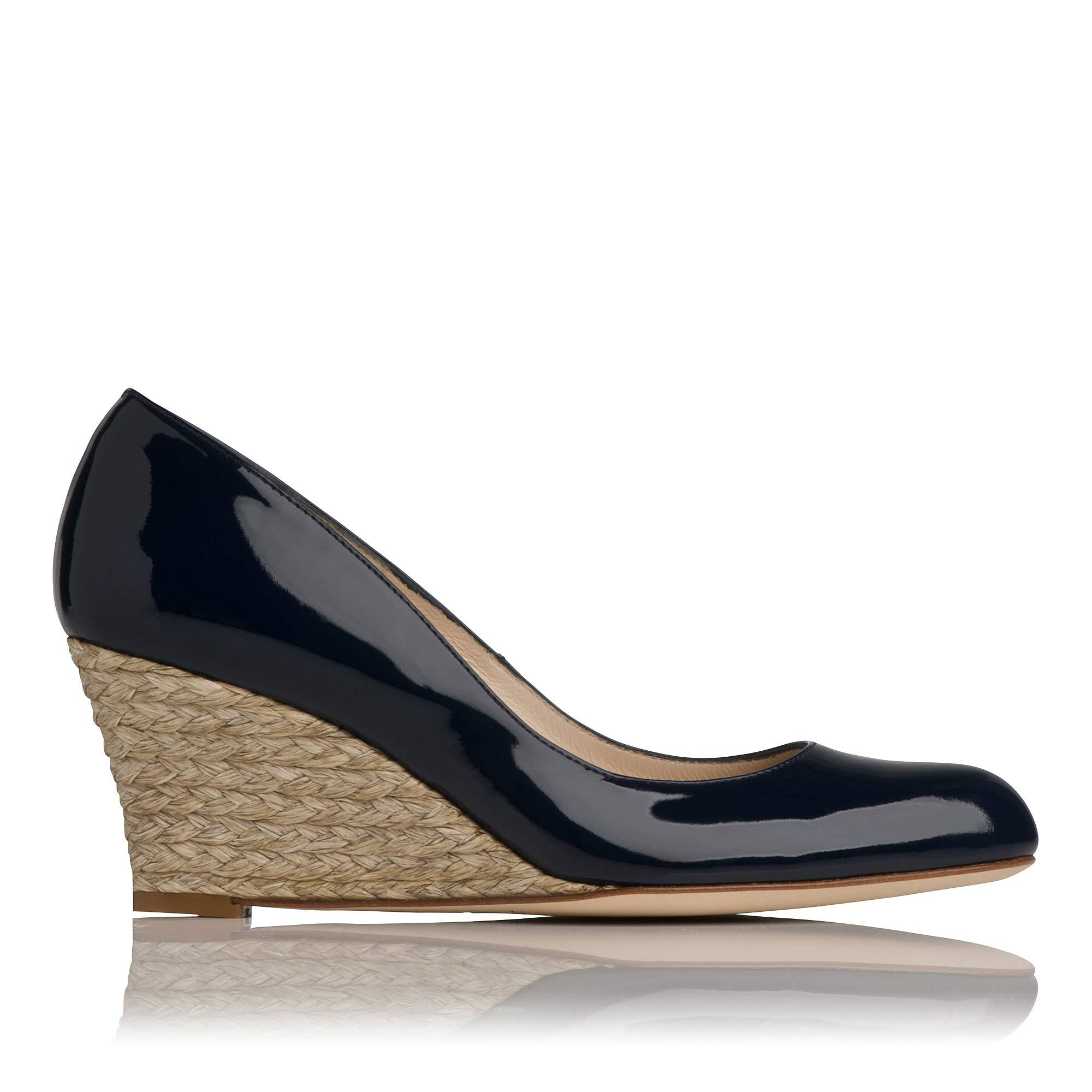 5a7fd4966663 Zella Navy Patent Leather Wedge
