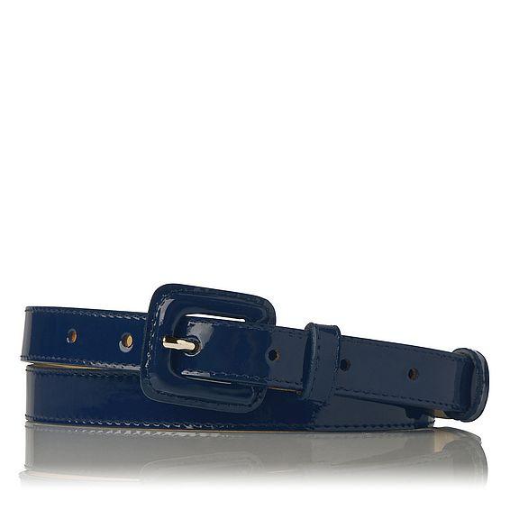 Genevra Patent Leather Belt