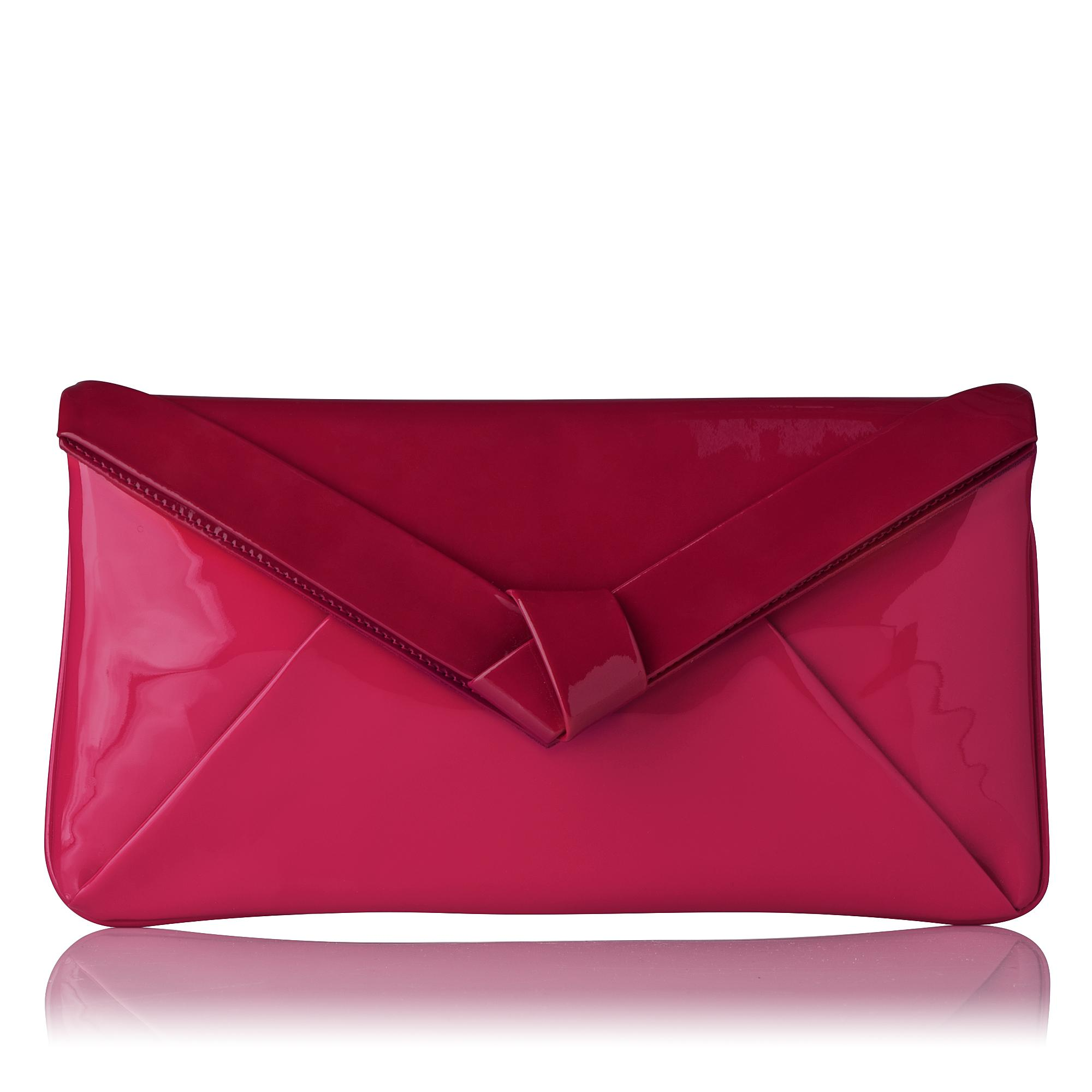 Lydia Patent Bow Detail Clutch