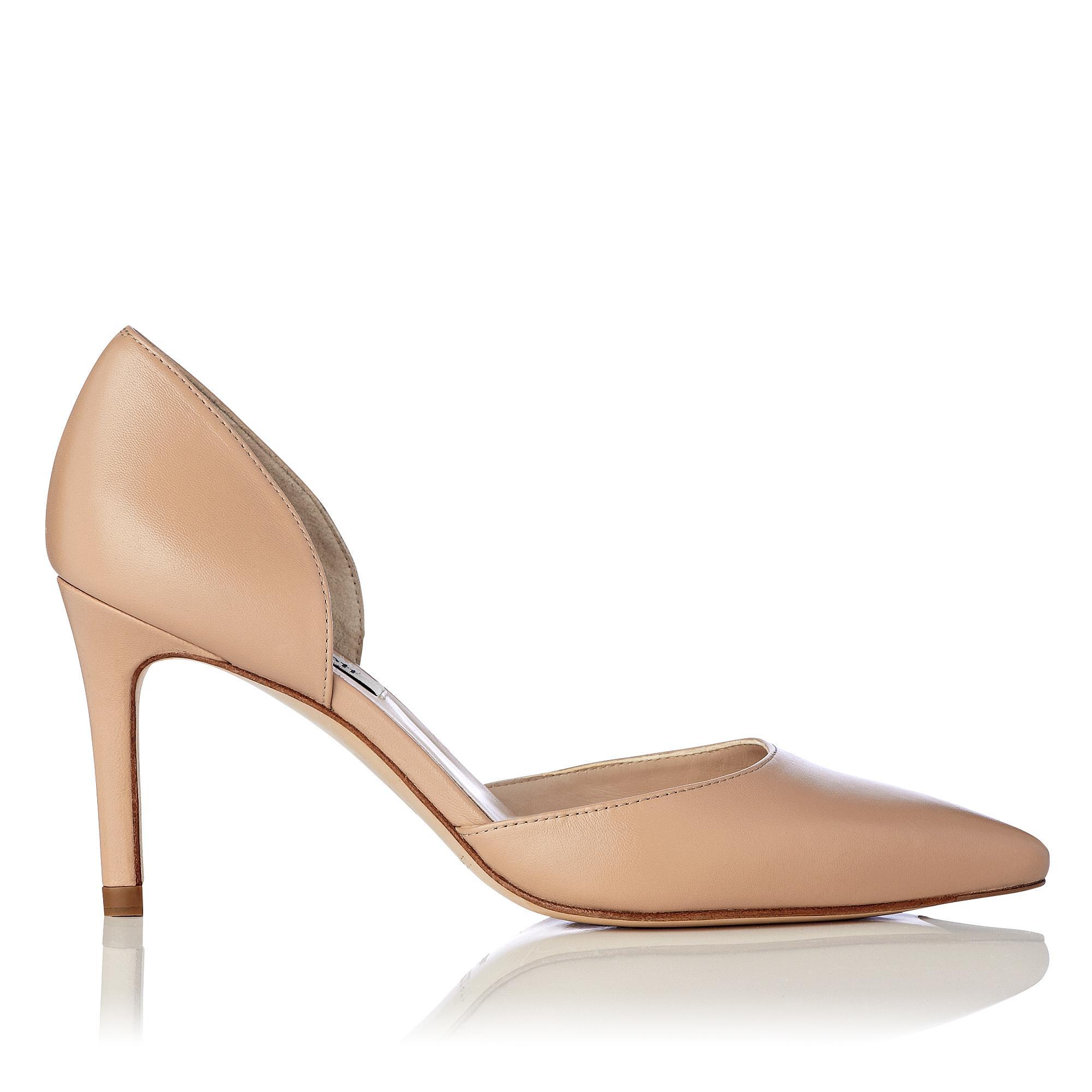 Flossie Nude Leather Heel