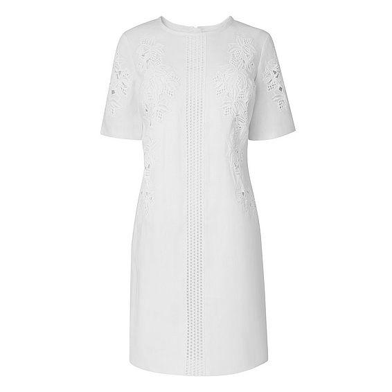 Danika White Lace Detail Shift Dress