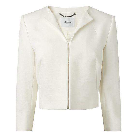 Amolie Cream Cropped Jacket