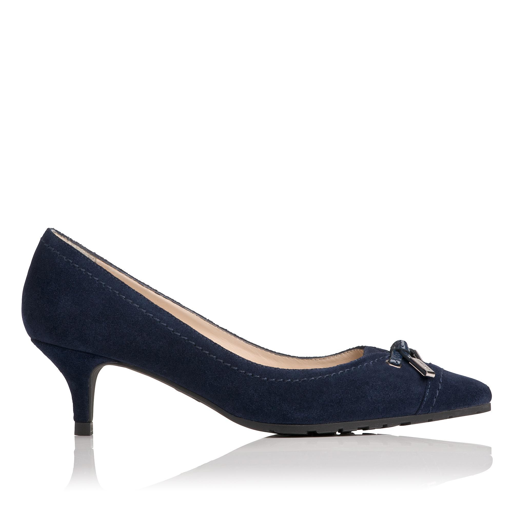 L.K.Bennett Clara Navy Leather Heels