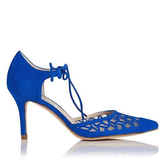 Fauna Blue Suede Heels