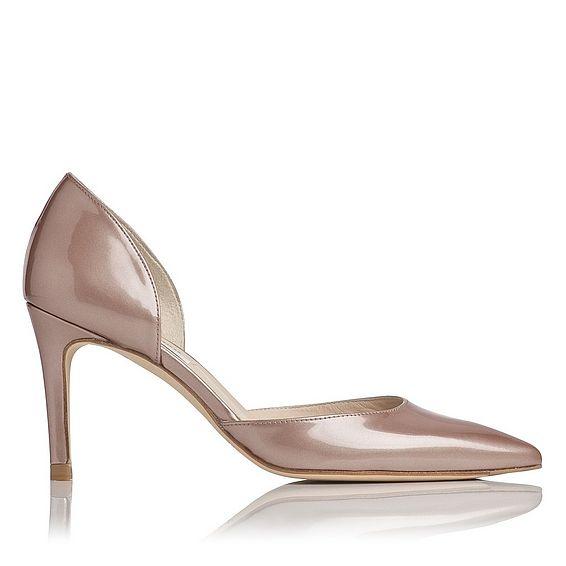 Flossie Champagne Patent Heels