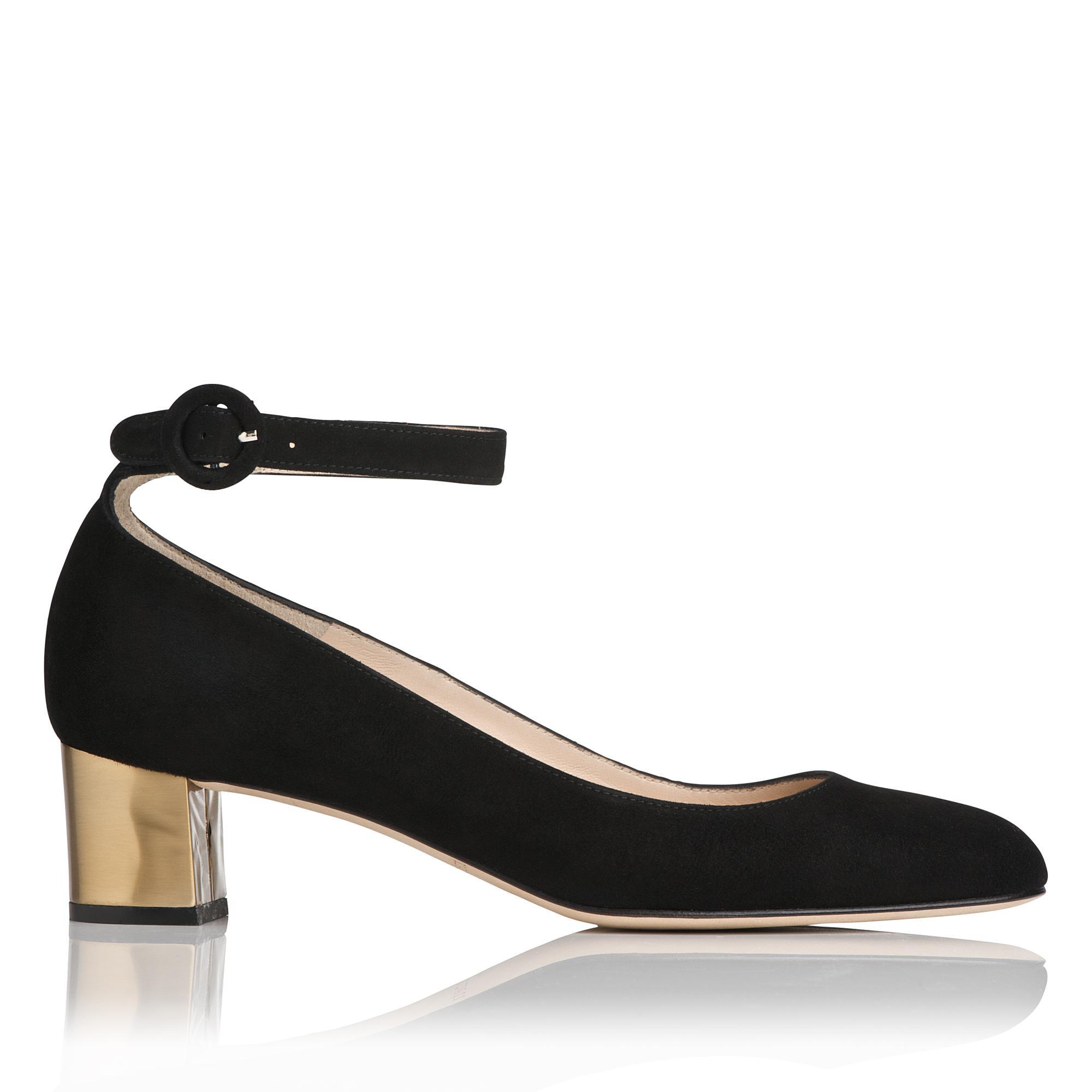 Parka Black Suede Block Heel