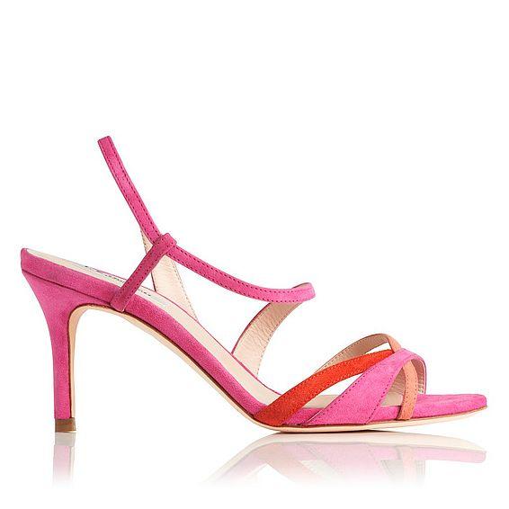 Lourdes Pink High Heel Sandals