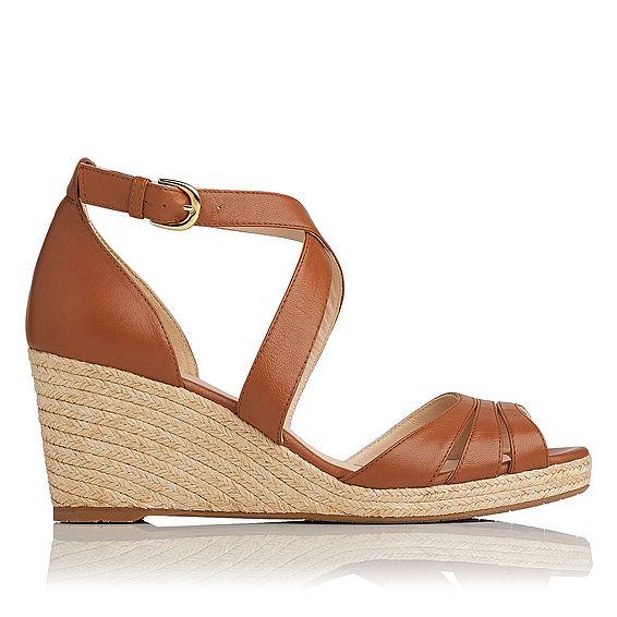 Priya Leather Wedge