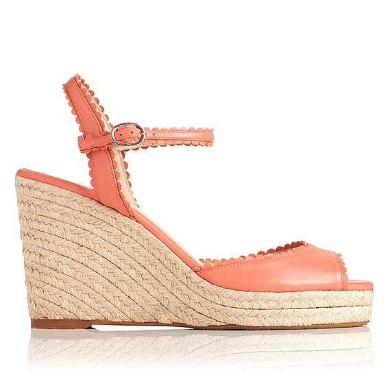 Seve Leather Espadrille Wedges