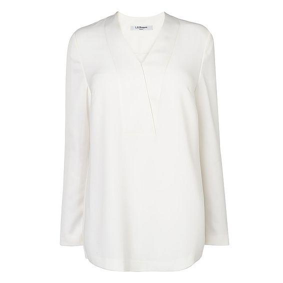 Maisie White Silk Blouse