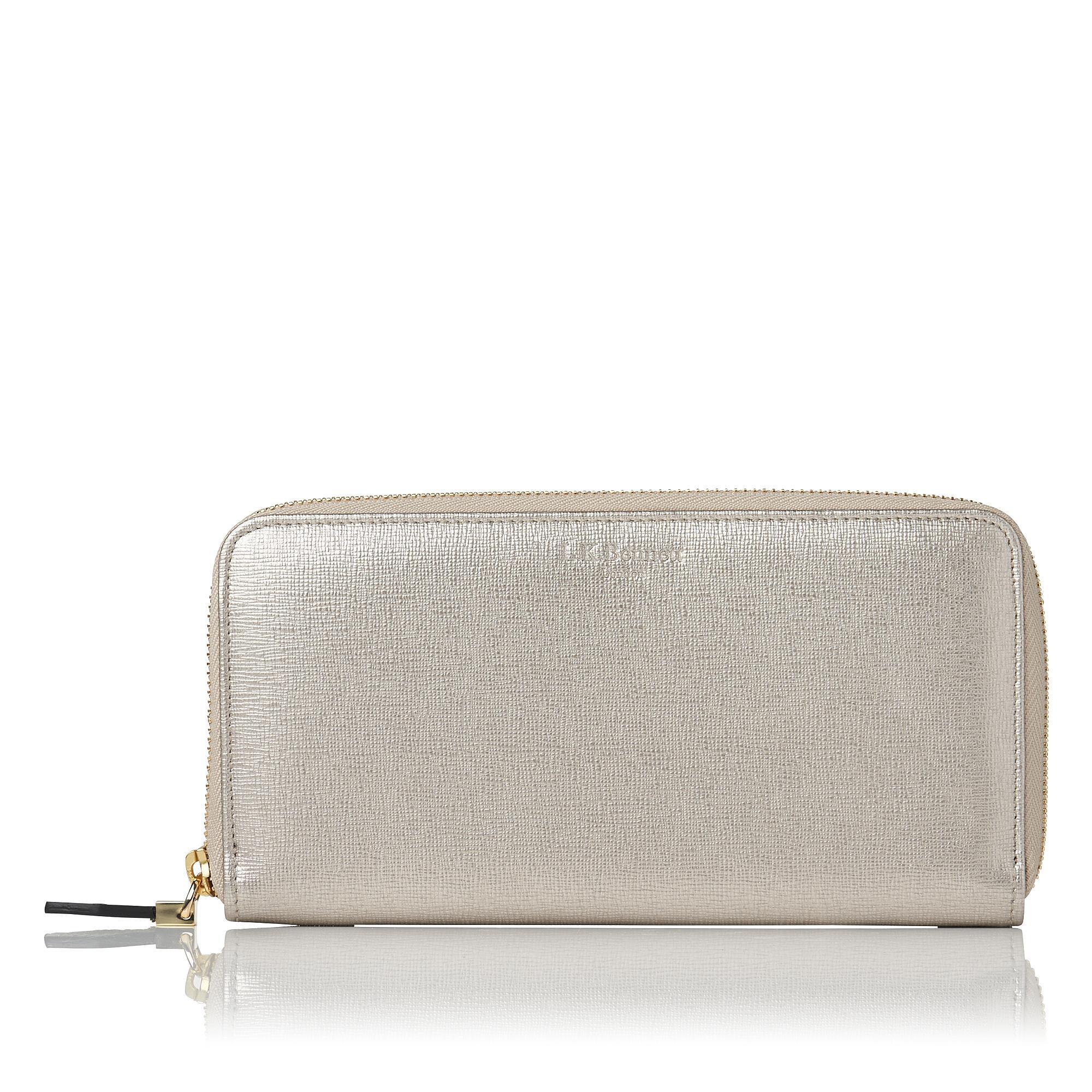 L.K.Bennett Kenza Metallic Wallet