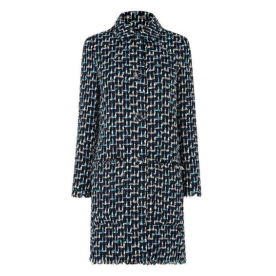Vetti Blue Tweed Coat