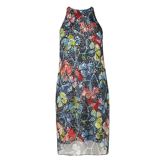 Carmel Floral Organza Print Dress