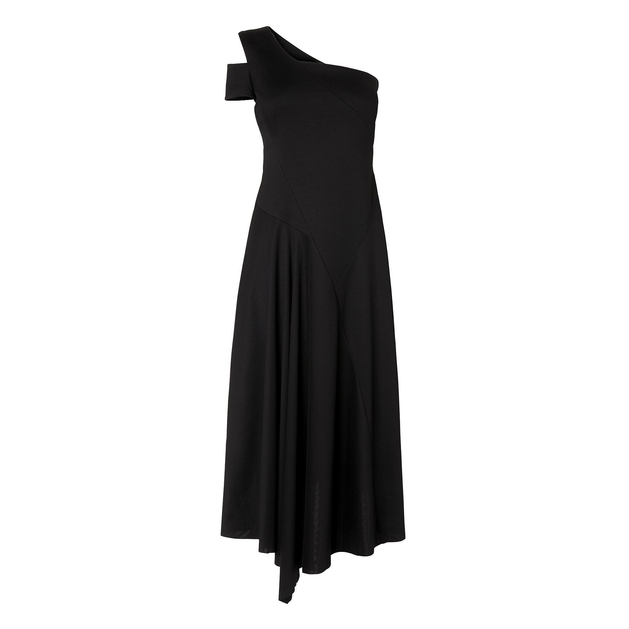 Lavendar Black Asymmetric Dress