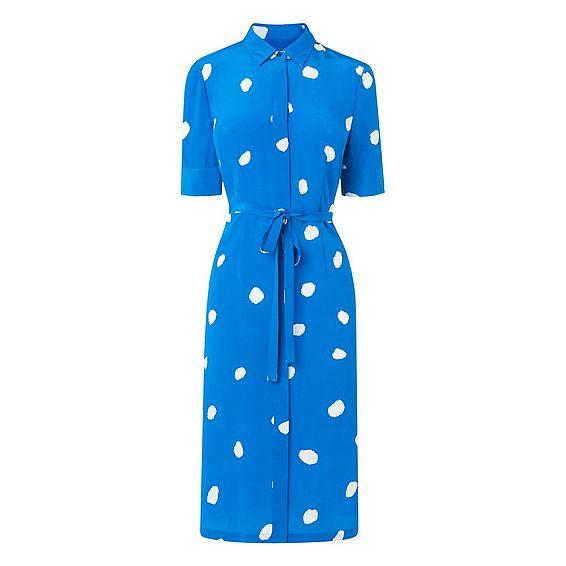 Pernila Blue Spot Print Dress