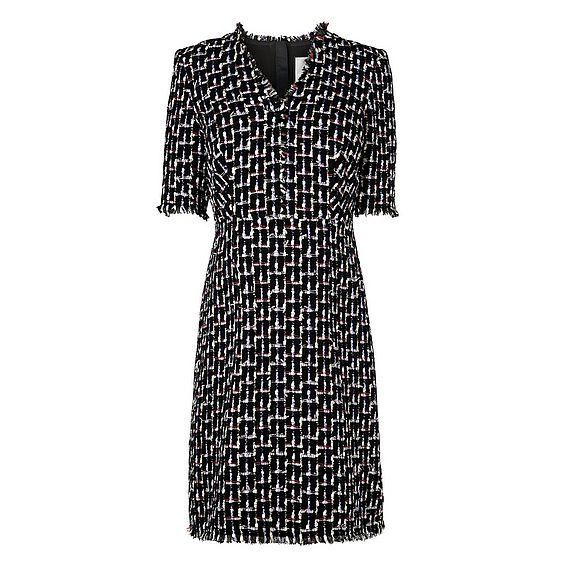 Vetti Black Tweed Dress