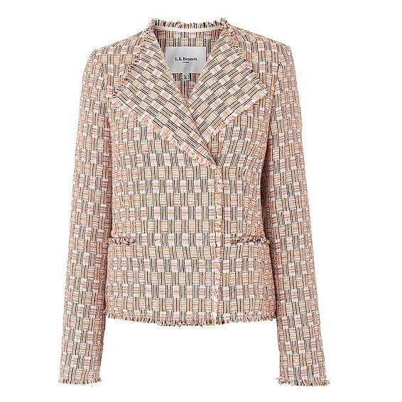 Heather Putty Tweed Jacket