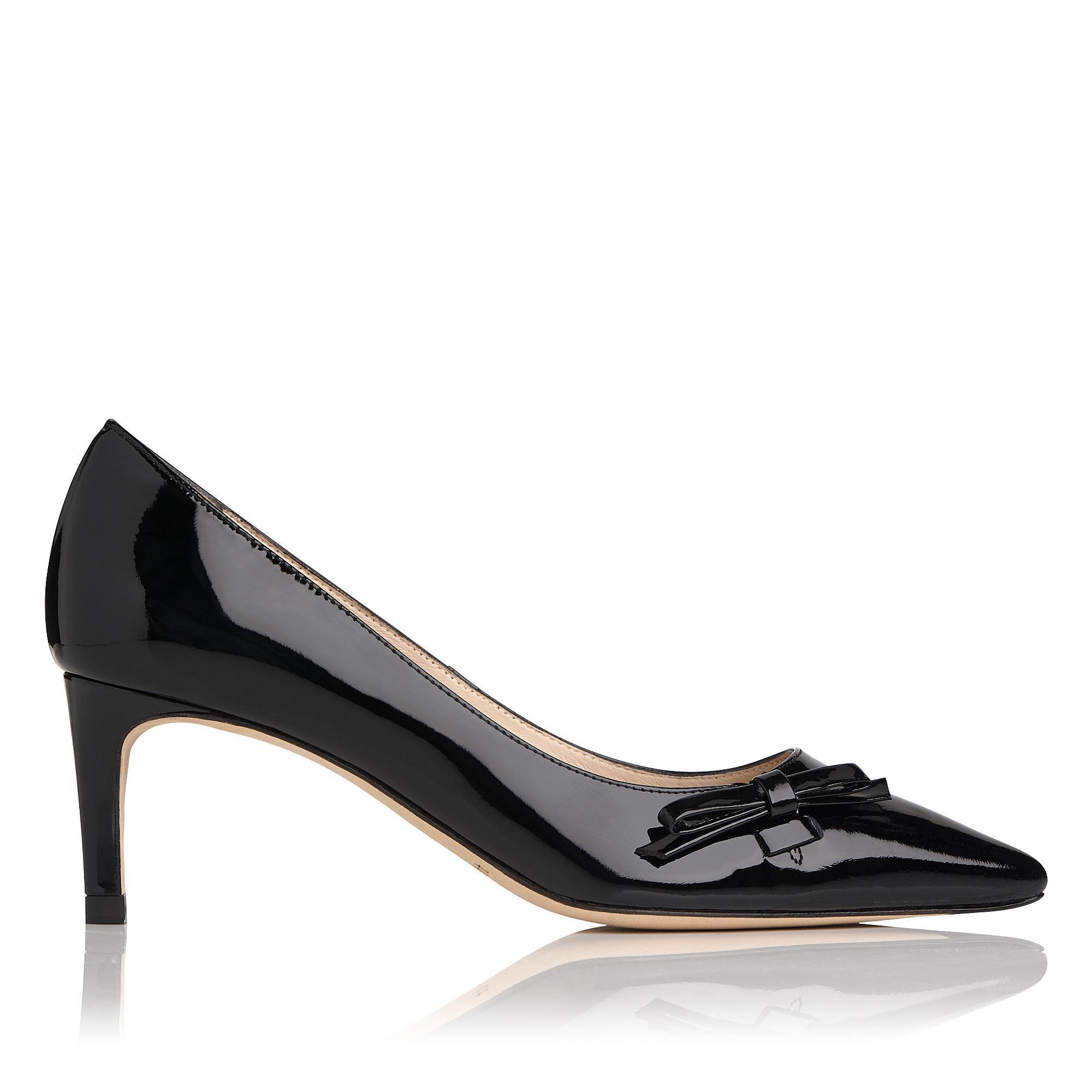 Berenice Black Patent Heel