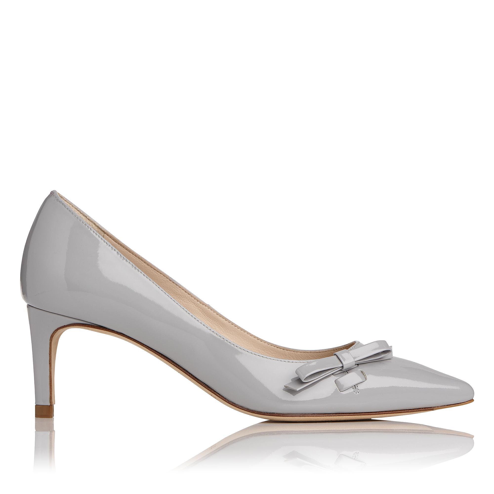 Berenice Grey Patent Leather Heel