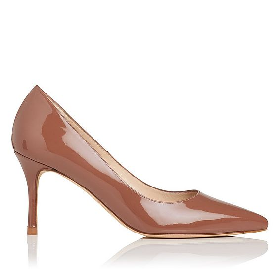 Bianca Winter Rose Patent Leather Heel