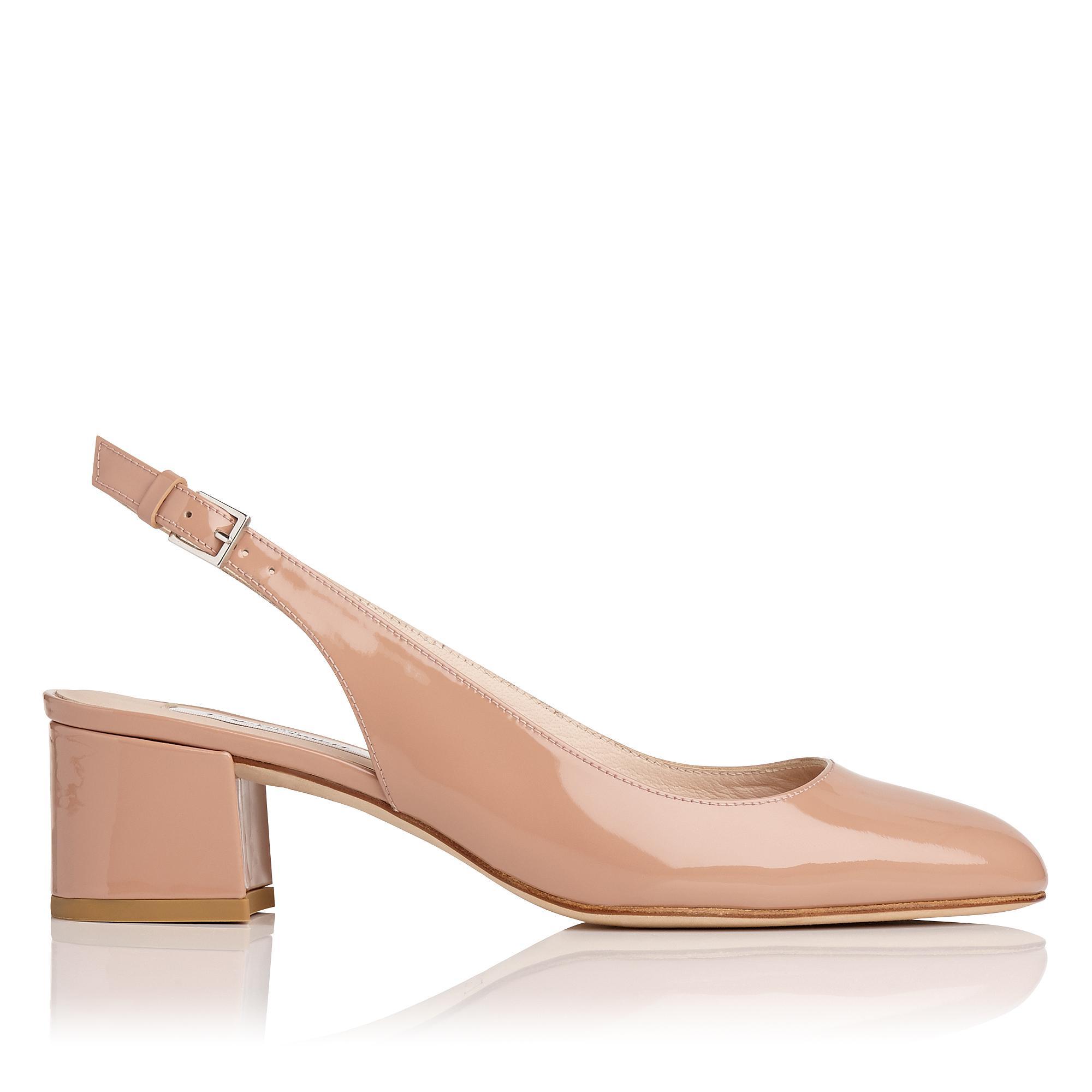 Chloe Nude Patent Heel